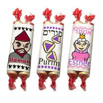 Purim - so creative and easy! Would be great taped to front of pkg. or on table