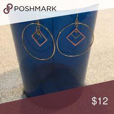 Gold and pink hoops Never worn. From vanity vanity Jewelry Earrings