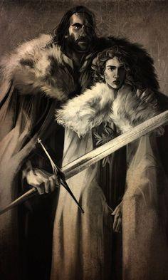 sandor clegane & sansa stark (beauty of dawn by Kellie LeFave) Character Art, Character Design, Character Ideas, Piercings, Game Of Thrones Art, Sansa Stark, Deviantart, Winter Is Coming, Dawn