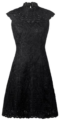Yanny London Lace embroidery A line dress