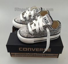 So cute!! Bling Chucks!