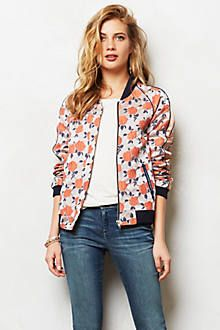 Rose Jacquard Bomber Jacket from Anthropologie. Saved to Epic Wishlist. Shop more products from Anthropologie on Wanelo. Pretty Outfits, Beautiful Outfits, Pretty Clothes, Beautiful Clothes, Floral Bomber Jacket, Sporty Style, Spring Summer Fashion, Fall Fashion, Dress To Impress