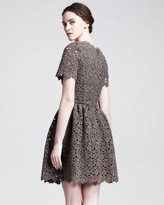 AMAZING LACE: sweet lace-like macrame from Dolce & Gabbana.