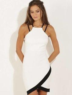 Vestido de Alcinha Bicolor - 1010