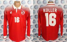 SWITZERLAND NATIONAL TEAM 1996 1998 #16 KOLLER HOME FOOTBALL SOCCER SHIRT JERSEY #LOTTO #Switzerland