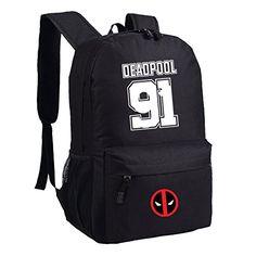 Differ Deadpool Backpacks for School Boys Large Bag Waterproof Book Storage Bag Black (new black) Differ