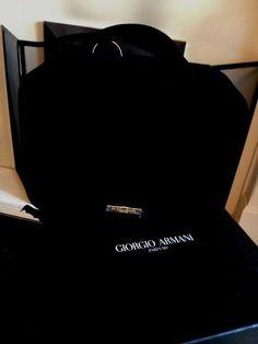 GIORGIO ARMANI Parfums Black Velvet Hard Evening Bag BNIB
