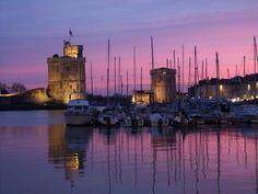 Sunset in La Rochelle.