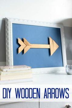 Right this way for a great #DIY! Arrow wall art - made w/ #reused wood. #ValentinesDay