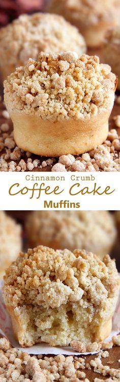Cinnamon Crumb Coffee Cake Muffins - Gather your ingredients. It's a very humble coffee cake. Crumb topping is the star! It doesn't take much to highlight it. Crumb Coffee Cakes, Coffee Cake Muffins, Coffe Cake, Crumb Cakes, Think Food, Love Food, Just Desserts, Dessert Recipes, Coffe Recipes