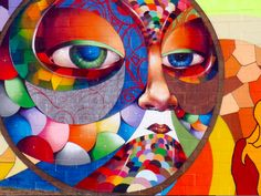 """Kaleidoscope colors to brighten your Monday <3 Albus Cavus' 2008 #mural """"Seasons in the City"""" - http://theartaround.us/arts/seasons-in-the-city"""