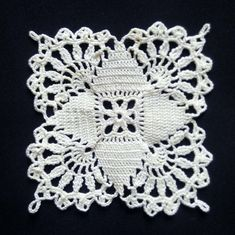 Small ivory crochet doily inches - Square doilies - Home decor - Ivory crochet doilies - Mini doilies - Handmade Crochet Tablecloth Pattern, Crochet Bedspread Pattern, Free Crochet Doily Patterns, Crochet Blocks, Crochet Patterns For Beginners, Crochet Squares, Crochet Doilies, Crochet Hats, Crochet Coaster