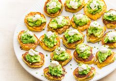 Did someone say Corn Cakes with Avocado Smash? Top with sour cream and watch these favourites disappear.