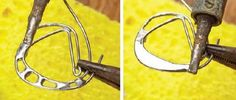 6 Things You Need to Know About Decorative Soft-Soldering Techniques from Soldered Alchemy - Jewelry - Ideas of Jewelry - bridging soft-folder technique from Soldered Alchemy by Laura Beth Love Soldering Jewelry, Soldering Iron, Jewelry Tools, Metal Jewelry, Jewelry Crafts, Handmade Jewelry, Jewelry Design, Jewelry Making, Jewelry Ideas