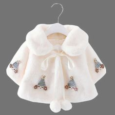Baby Girl Stylish Little Girl Applique and Pompon Decor Hooded Coat Kids Coats Girls, Kids Outfits Girls, Girl Outfits, Kids Girls, Baby Boy Dress, Little Girl Dresses, Cute Baby Clothes, Doll Clothes, Stylish Little Girls