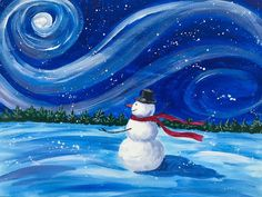 Excited to share this item from my shop: Snowman Acrylic Painting on Canvas For Children Room, Winter Painting, Christmas Wall Decor , Kid's Room Decor, Nursery Decor Family Painting, Winter Painting, Winter Scene Paintings, Children Painting, Christmas Paintings On Canvas, Snowmen Paintings, Christmas Artwork, Christmas Decor, Xmas