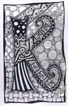 K. Zentangle-Zebra Letters, Forever Tangles (Nia Thomas), c2011