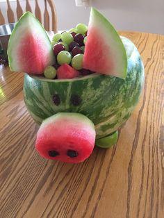 Watermelon Pig, Fruit, Food, Meals