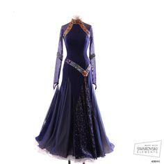 Ballroom Dance Dress from CHRISANNE - interesting drop v waistline...