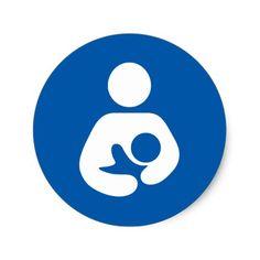 Breastfeeding Icon Classic Round Sticker