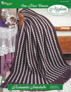 Crochê Listra da Herança Padrão Afegão casa por itens decorativos Malha Criações -  /     Crochet Stripe Heirloom Afghan Pattern Home by Knit Knacks Creations -