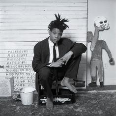 opposite Jean-Michel Basquiat photographed at his Great Jones Street studio, New York City, 1987.DMITRI KASTERINE/KASTERINE.COM