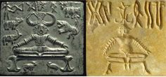 seals and fossils of Indus Valley civilization showing ancient practice of yoga activity