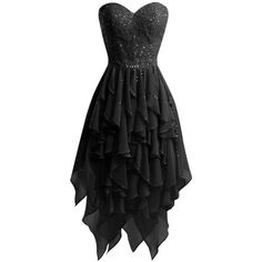 MorySong Sweetheart High Low Beaded Ruffles Short Prom Party Cocktail... ($100) ❤ liked on Polyvore featuring dresses, hi low dress, sweetheart prom dresses, cocktail party dress, short front long back dress and short dresses