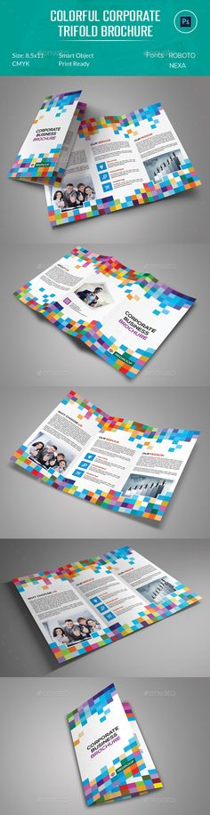 Corporate Trifold Brochure Template can be used on any business purpose or others. It is fully editable & easily photo changes opt