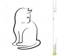 Cat Silhouette Logo Stock Photography - Image: 37946412