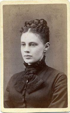 CDV Portrait of a young woman - USA - c.1875 by Patrick Bradley 70, via Flickr