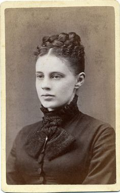 CDV Portrait of a young woman - USA - c.1875 by Patrick Bradley 70, via Flickr