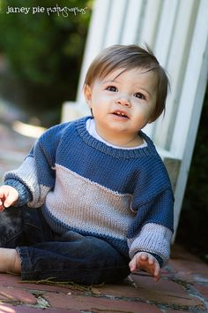 Children Clothing  Hand Knit Baby Sweater Boys by YellowHouseKnits, $55.00