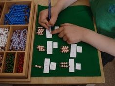 Using the beads for times table practice ...
