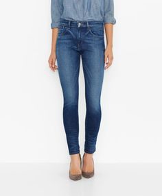 Levi's High Rise Skinny Jeans - Resevoir - Skinny