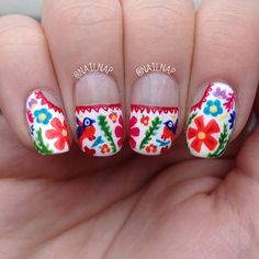 Mexican Embroidery Nail Art - LOVE It!