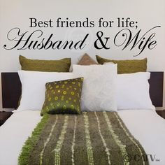 Best Friends For Life Husband And Wife wall by VinylLettering, $9.97