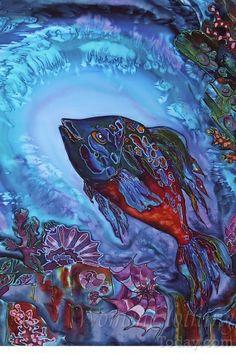 Silk Painting- Caribbean Sea Treasure