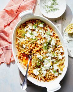 You'll turn to this technique all winter long. Chickpea Recipes Easy, Vegetarian Recipes, Veg Recipes, Vegetarian Dinners, Vegan Meals, Delicious Recipes, Couscous How To Cook, Fennel Recipes, Salad