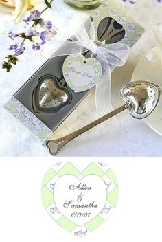Heart-Shaped Tea Infuser Wedding Favor from Wedding Favors Unlimited