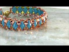 DiamonDuo™ Snowflake Element in Crystal Cascade Bracelet ~ Seed Bead Tutorials