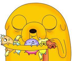 jake el perro y sus hijos