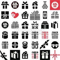 Clipart vectoriel : Gift icon set. Gift box.