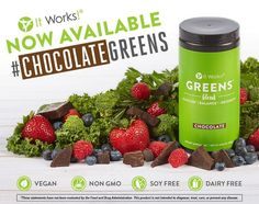 Greens now comes in CHOCOLATE!