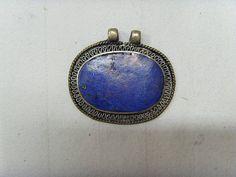 Large Vintage Lapis Lazuli hand made Kuchi tribal pendant