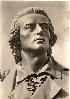 Friedrich Schiller. I've seen this statue in Weimar. Love Schiller.