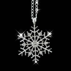 Fashion Necklaces For Women Silver Frozen Snowflake Crystal Necklace Pendant Chain Christmas Gift Collier Femme Initial Pendant Necklace, Silver Chain Necklace, Crystal Necklace, Pendant Jewelry, Silver Ring, Crystal Pendant, Silver Jewelry, Jewlery, Flower Pendant