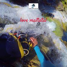 Geführte Canyoningtouren im Maltatal, dem Tal der stürzenden Wasser mit Alpinsport Koller. Ein erfrischendes Abenteuer bei den Gößfällen. Rafting, Malta, Sport, Outdoor, Adventure, Water, Outdoors, Malt Beer, Deporte