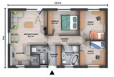 Stavební firma HP doma přišla po mnohaleté zkušenosti s výstavbou nízkoenergetických domů s konceptem, který nadchl především investory. Bungalov HP90 s dispozicí 4+kk je navržen tak, aby splňoval požadavky na pohodlné bydlení 4 členné rodiny.