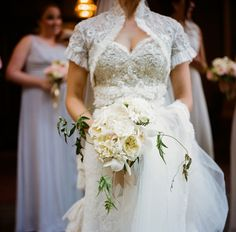 beaded top and white bouquet | 509 Photo #wedding